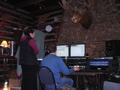 Ben, Michelle & a moose record.